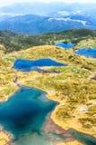 七个Rila湖,保加利亚空中veiw  图库摄影