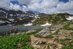 七个Rila湖,保加利亚-在Fish湖的夏天 免版税库存图片
