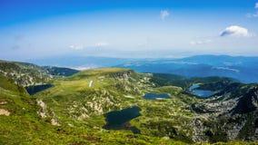 七个Rila湖, Rila山,保加利亚 库存图片