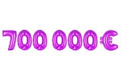 七十万欧元,紫色颜色 免版税库存照片