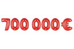 七十万欧元,红颜色 免版税库存图片