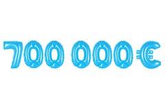 七十万欧元,蓝色颜色 图库摄影