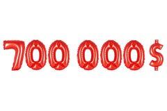 七十万美元,红颜色 图库摄影