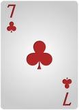 七家卡片俱乐部啤牌 免版税库存照片