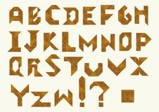 七巧板字母表-司令官格式  库存例证