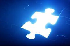 七巧板片断失踪 轻发光 解决方法 免版税库存图片