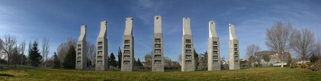 七把椅子纪念碑 免版税图库摄影