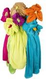 七朵花花束,做†‹â€ ‹由毛巾另外颜色 库存图片