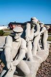 七渔夫雕塑  免版税图库摄影