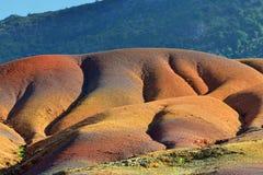 七色的土地 毛里求斯 图库摄影