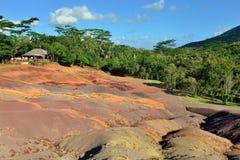 七色的土地 毛里求斯 免版税库存照片
