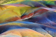 七色的土地 Chamarel 毛里求斯 免版税图库摄影
