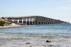 七英里桥梁在佛罗里达 免版税库存图片