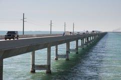 七英里桥梁在佛罗里达 库存照片