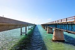 七英里桥梁,佛罗里达关键字 图库摄影