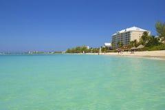 七英里海滩在大开曼,加勒比 库存图片
