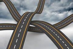 七高八低的平交道口背景 库存例证