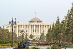万国宫早晨,杜尚别,塔吉克斯坦 图库摄影