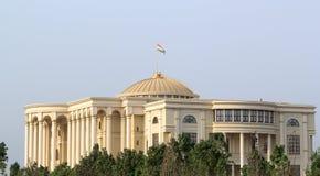 万国宫早晨,杜尚别,塔吉克斯坦 免版税库存照片