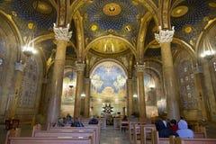 万国教堂的内部在耶路撒冷 免版税库存图片
