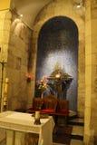 万国教堂,法坛细节,耶路撒冷,客西马尼园,以色列 图库摄影