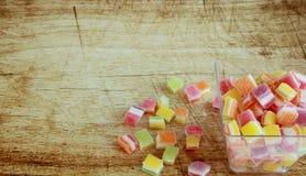 万圣夜、把戏或款待用糖果 免版税库存图片