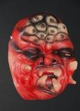 万圣夜党的可怕面具 图库摄影