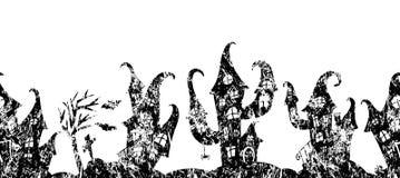 万圣夜党的无缝的边界 图库摄影