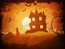 万圣夜党的鬼的背景 库存图片