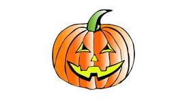 万圣夜南瓜微笑 秋天装饰 10月庆祝 免版税库存照片