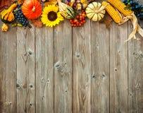 万圣夜和感恩的五颜六色的背景 库存照片