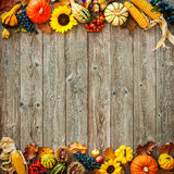 万圣夜和感恩的五颜六色的背景 免版税库存照片