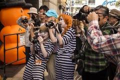 万圣夜在川崎日本 免版税库存照片