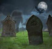 万圣夜坟园 库存图片