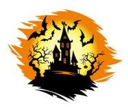 万圣夜城堡 免版税库存照片