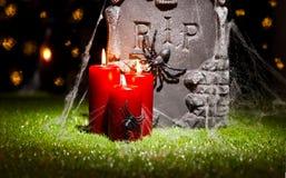 万圣夜墓碑 库存图片