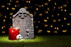 万圣夜墓碑 图库摄影