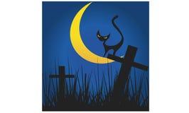 万圣夜夜党的卡片设计 皇族释放例证