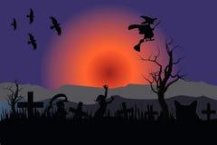 万圣夜夜风景,与一鬼的vibe 皇族释放例证