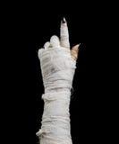万圣夜妈咪指向手指 图库摄影