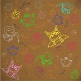 万圣夜字符Tanoshi玩偶 库存图片
