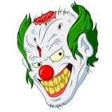 万圣夜小丑面孔动画片 向量例证