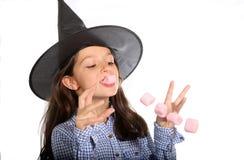 万圣夜巫婆用蛋白软糖 库存照片