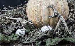 万圣夜恐龙 免版税库存照片