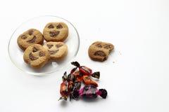 万圣夜曲奇饼和甜点 免版税库存图片