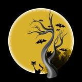 万圣夜树 库存照片