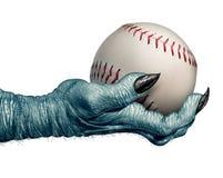万圣夜棒球 免版税库存图片
