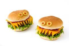 万圣夜汉堡妖怪被隔绝 图库摄影