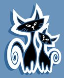 万圣夜猫 免版税库存图片