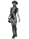 万圣夜生物-血淋淋的护士 库存图片